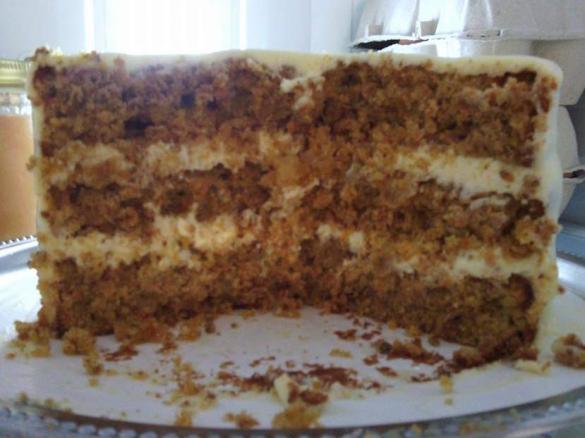 Carrot cake g teau la carotte et son gla age cream cheese par manue12 une recette de fan - Recette carrot cake americain ...