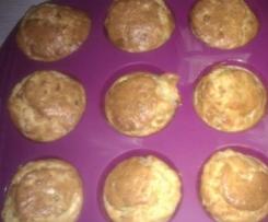 Muffins de courgettes, chèvre et gruyère