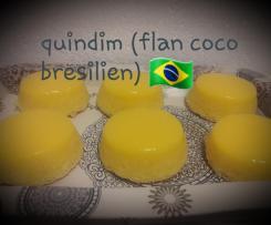 Quindim flan brésiliens coco