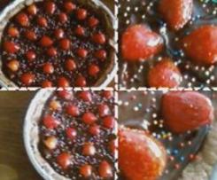 Tarte chocolatée aux fraises
