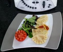 Ravioli sauce tomate mortadelle champignons
