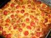 Clafoutis de tomates cerises , basilic et parmesan