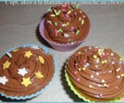 Cupcakes Banane & sa ganache au Chocolat
