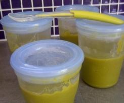 Purée bébé cabillaud haricots verts pdt et carotte (dès 6 mois)