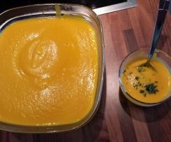 Velouté carottes/lait de coco facile
