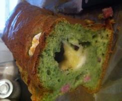 Cake aux épinards et aux dés de jambon