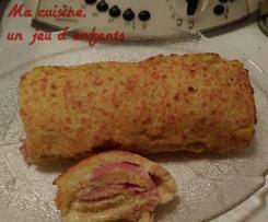 roulé de pommes de terre jambon fromage