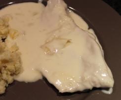 Escalope de dinde à la crème d'oignon