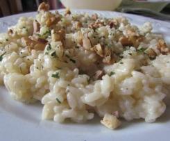 Risotto gorgonzola et noix