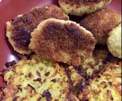 Nuggets de poulet et galette de pommes de terre