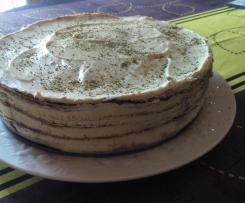 Gâteau de crêpes au thé Matcha