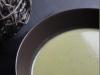 Velouté d'asperges vertes et pommes de terre au chèvre frais