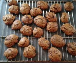 Cookies sans beurre( à la compote de pommes) aux pépites de chocolat