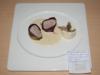 Mignon de porc en habit d'Arlequin au poivre vert, veloutine de Butternut et céléri forestière