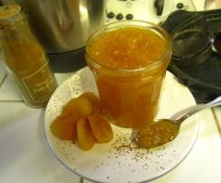 Confiture de potiron-abricots-orange aux saveurs épicées