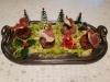 Aumonière de figue farcie au foies gras