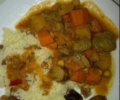 Couscous marocain safrané