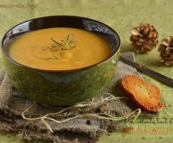 Soupe carotte, lentille rouge et coriandre