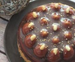 Tarte entremets mousse cacahuète et caramel au chocolat