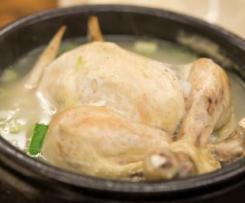 Poulet entier cuit à la vapeur au Thermomix