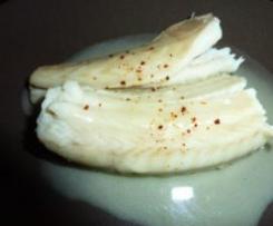 Saumonette au beurre salé safrané