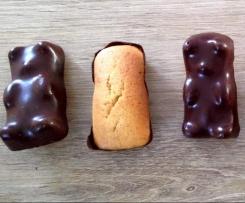 Oursons moelleux avec une coque en chocolat