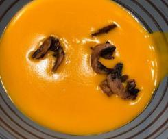 Velouté de butternut au lait de coco et curry