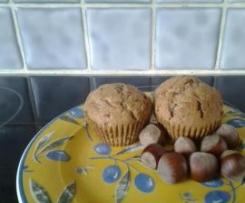 Muffin pralinoise et éclats de noisettes