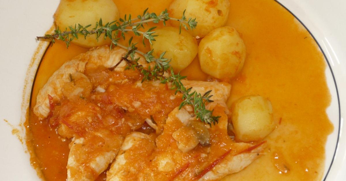 Poulet marengo par mimosa une recette de fan retrouver dans la cat gorie viandes sur www - Poulet marengo recette ...