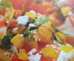 Bruschetta aux légumes du soleil