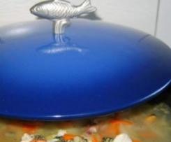 Soupe de poisson et pistou