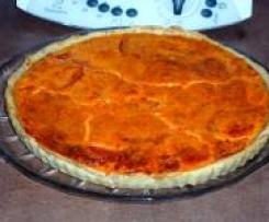 Tarte poivron-tomate-saumon