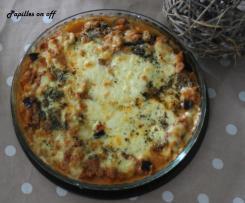 Gratin d'aubergines au thon et à la mozzarella