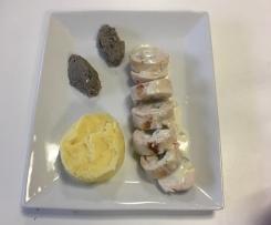 Ballottines de poulet au bleu, écrasée de pommes de terre et quenelles de duxelle de champignons - Thermostars