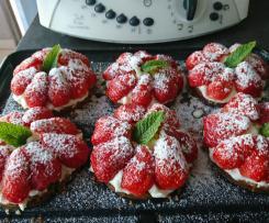 Tarte aux fraises/spéculos sans pâte