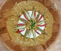 Maffé malien poulet gombos et beurre de cacahuète