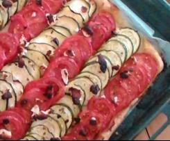 Tarte fine tomate courgette