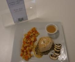 Quenelle de truite: mousseline champignons et légumes oubliés.