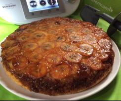 Gâteau renversé pommes bananes caramélisées