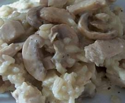 Risotto dinde champignons