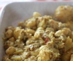 PAVTA BATATA (Pommes de terre et haricots beurre) {Recette Indienne}