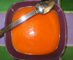 Soupe rouge aux légumes de mon jardin