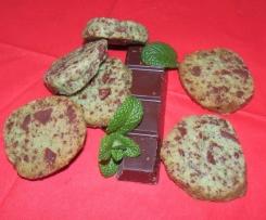Sablés menthe chocolat
