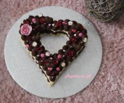 Heart cake chocolat noir et framboises (number cake/letter cake)