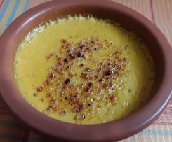 Crème brûlée au potiron et aux épices