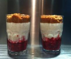trifle revisité (riz au lait, framboises, spéculos)