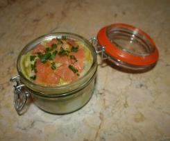Rillettes de saumon aux blancs de poireaux