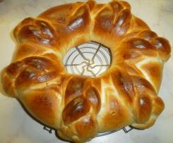 Couronne de pain brioché pour les Rois