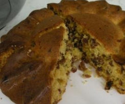 Cake fondant aux raisins