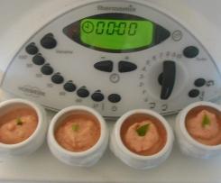Verrines de sorbet tomates cerises basilic